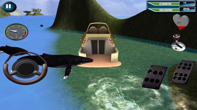 Power Boat Racing 3D game Screenshot