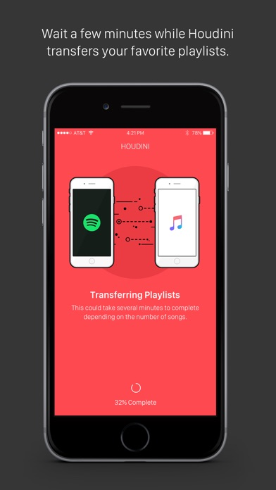Houdini Playlist Transfer Screenshot 2