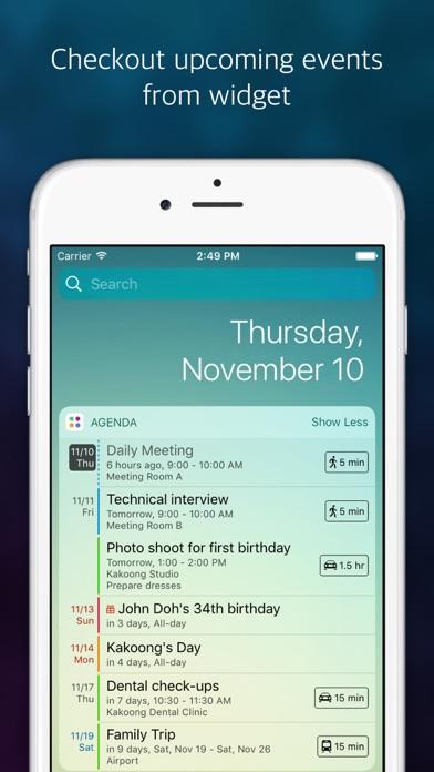 Agenda: Widget+ Screenshots