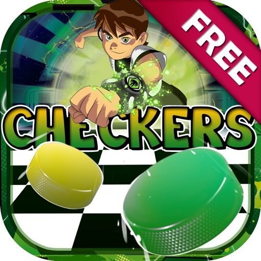 "Checkers Boards Puzzle Cartoon Games ""for Ben 10"" iOS App"