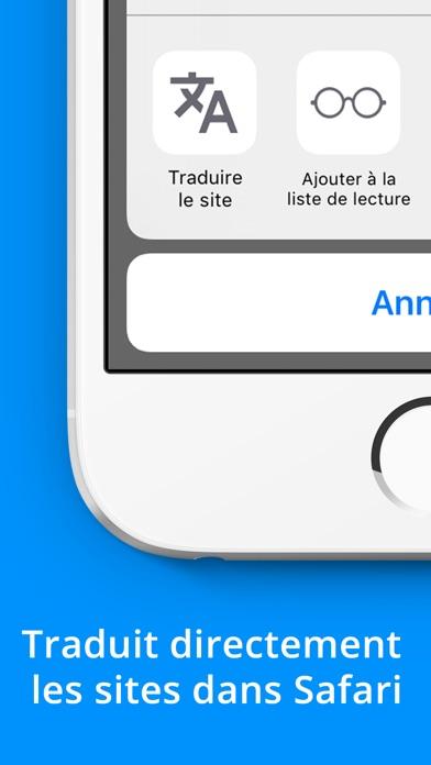 Screenshot Traduction de sites web sur Safari