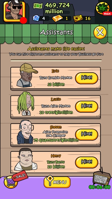 Screenshots of Bud Tycoon - Money Games for Pocket Weed Farm for iPhone
