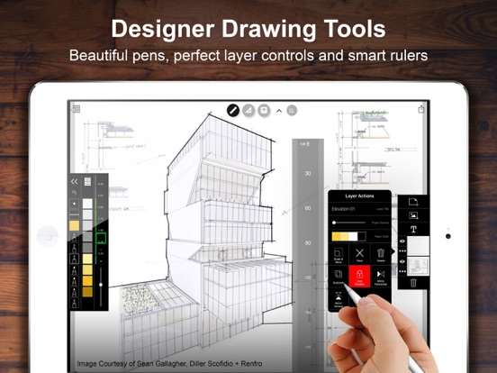 Architecture Drawing Ipad morpholio trace - sketch & design for architects on the app store