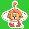 Fat Cat Christmas Stickers