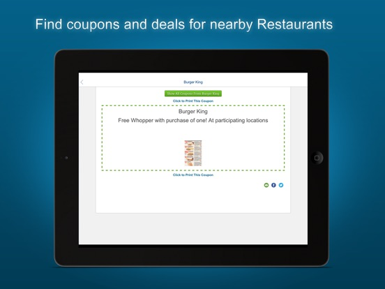 Coupon apps fast food
