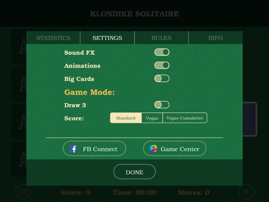 Solitaire Klondike Pro. Screenshots