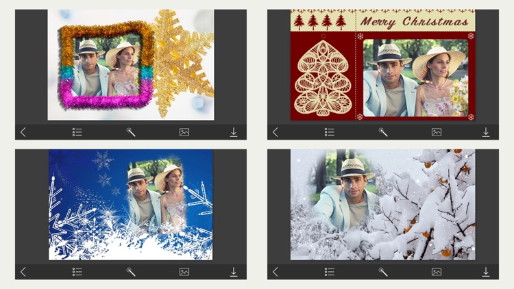 holiday christmas photo frames magic frames