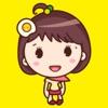 Yolk Girl Sticker - Cute Message Sticker Emoji