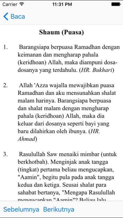 Hadith Pack - English Indonesia iPhone
