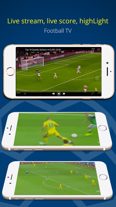 Football TV - Live score and the newest highlight videos Screenshot on iOS