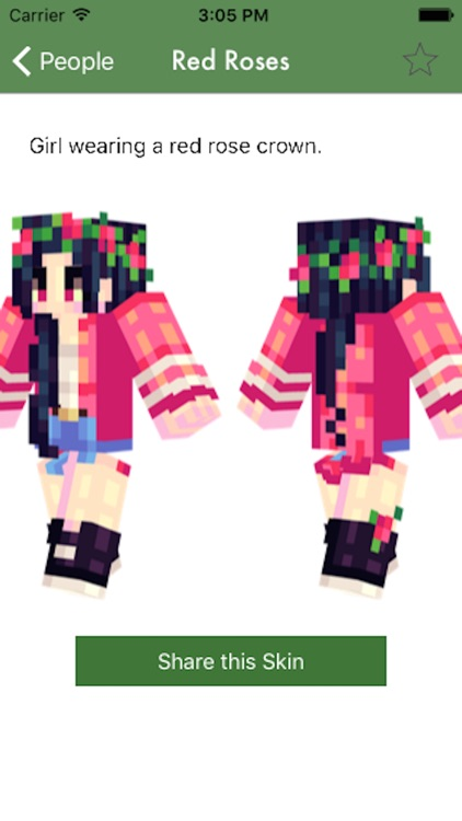 VIP Custom GIRL SKINS For Minecraft Pe By Manfred Breede - Skin para minecraft pe vip