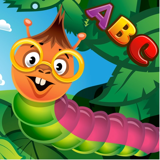 Caterpillars and Alphabet - Learning English Letters - Early Evaluation ABC Game iOS App