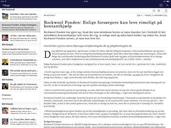 Berlingske e-avis i App Store