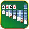 Solitaire. Classic Klondike patience card game.