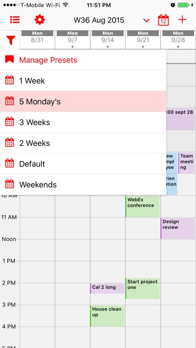 Week Calendar Pro Screenshot