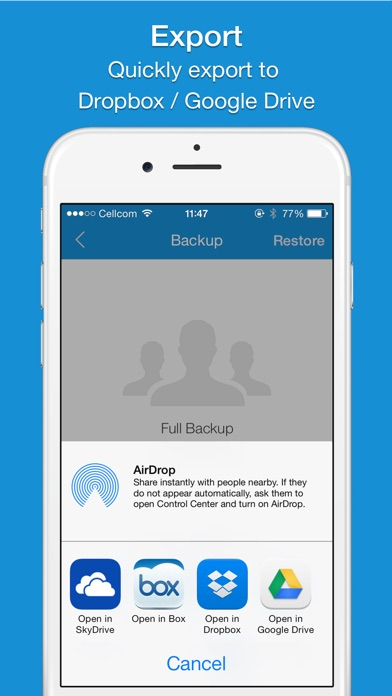 Screenshot #8 for Easy Backup - Contacts Backup Assistant