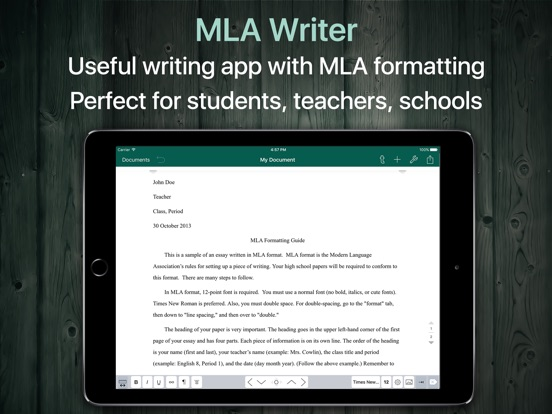 mla format free download