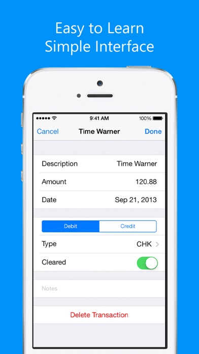 Balance My Checkbook, Check Register With Sync on the App Store