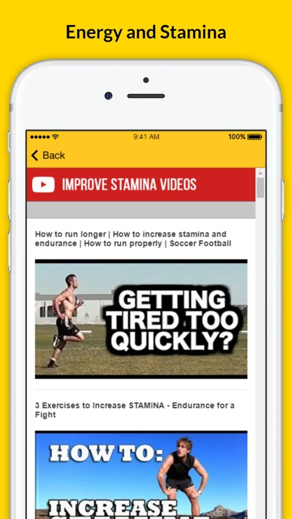 how to increase stamina quickly