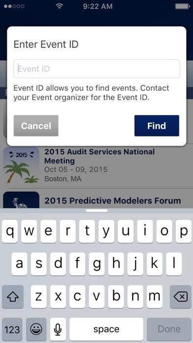 Screenshot of Liberty Events2