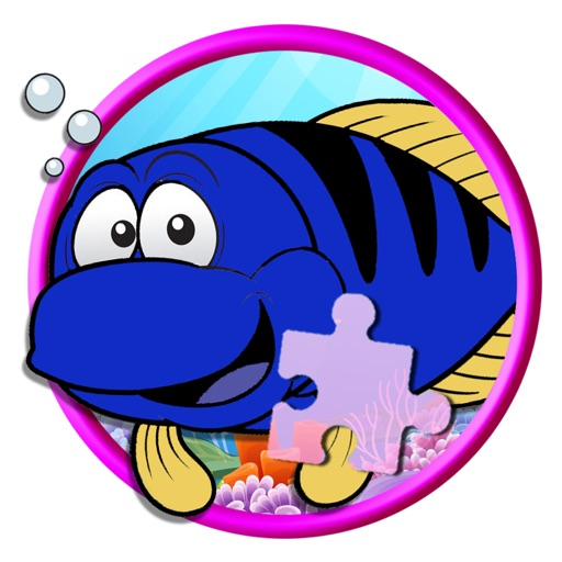 Learning Fish Version Jigsaw Puzzle Game Icon