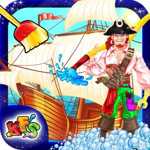 Kids Ship Wash Salon – Cleanup & repair pirate ships in this crazy mechanic game iOS App