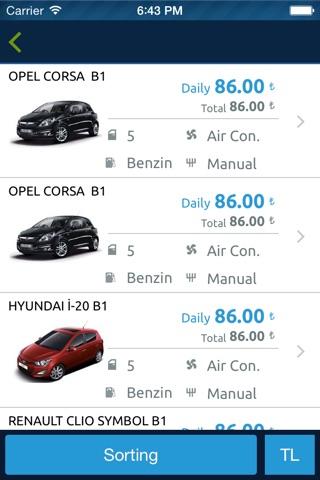 Rent A Car, Araç Kiralama by Tasit.com screenshot 3