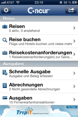 Concur - Travel and Expense screenshot 1