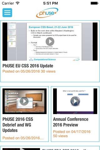 PhUSE App screenshot 3