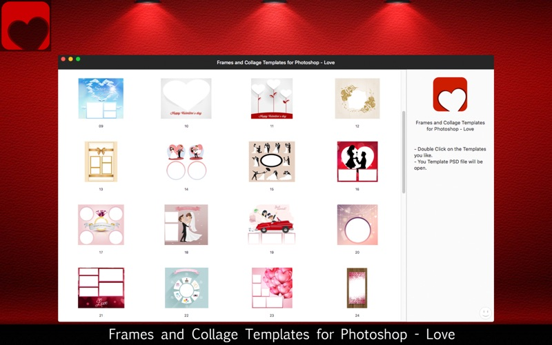 App shopper frames and collage templates for photoshop love iphone ipad pronofoot35fo Choice Image