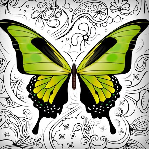 Schmetterlinge Blumen Malvorlagen Für Erwachsene Bei Milivoje