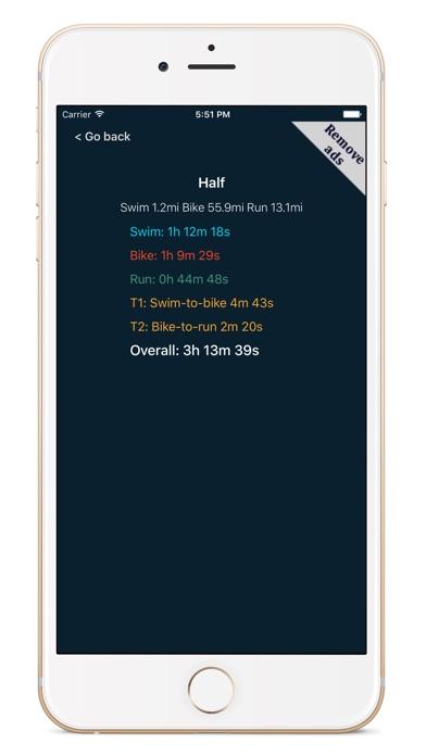 SBR Triathlon CalculatorСкриншоты 2