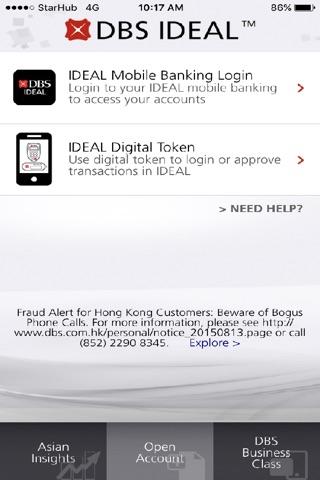 DBS IDEAL Mobile screenshot 1