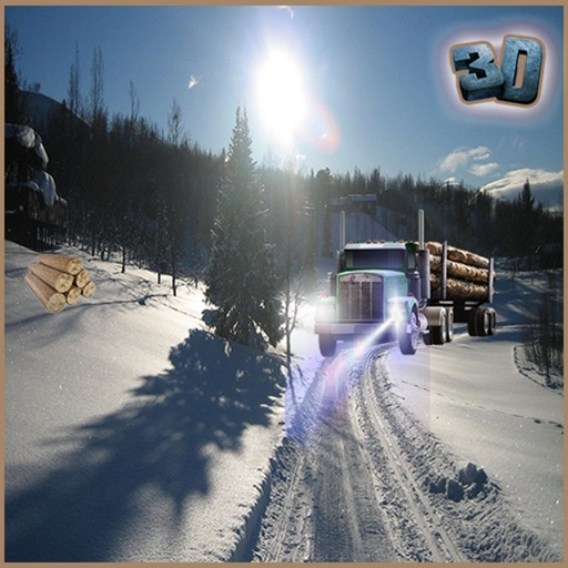 Real Farming Log Snow Transporter Tractor iOS App