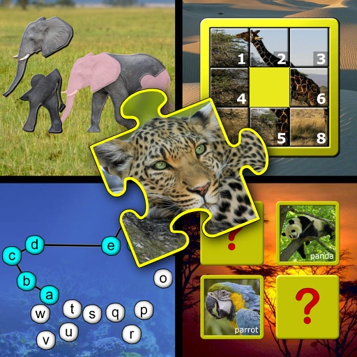 Kids animal puzzle and memory skill games iOS App