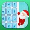 Рождественские темы клавиатуры праздник смайликов