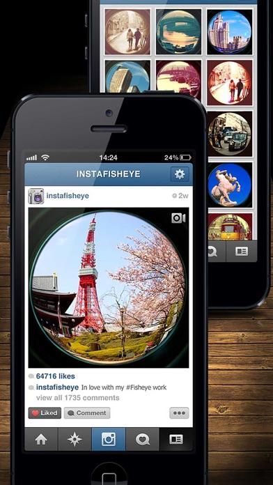 Infisheye free fisheye lens for instagram app download for Fish eye lense app