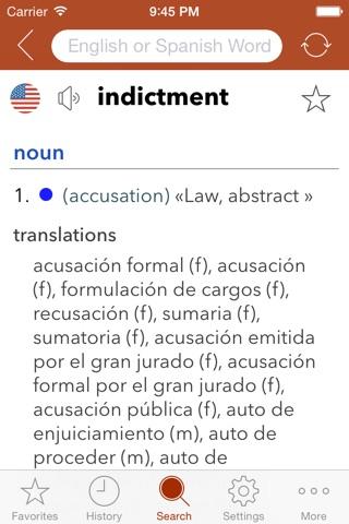 Spanish Legal Dictionary screenshot 1
