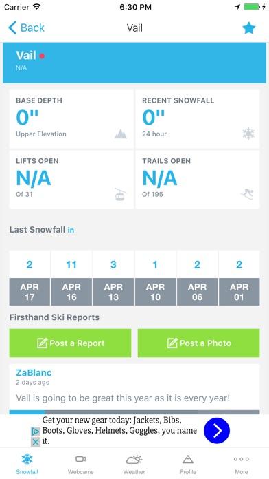 Ski & Snow Report screenshot two