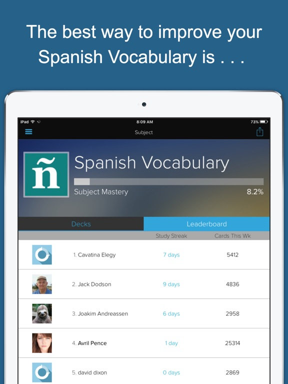 Spanish Vocab Genius Screenshot