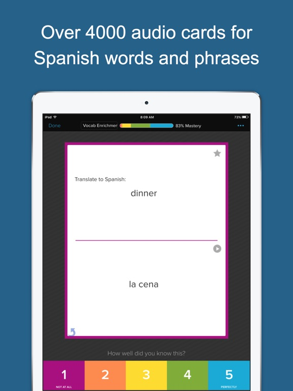 Spanish Vocab Genius Screenshots