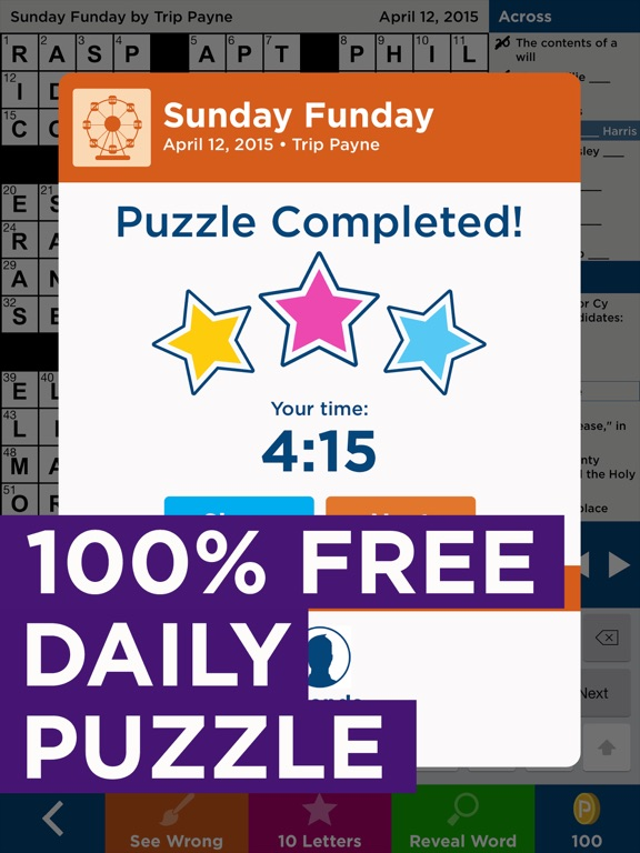 Screenshots of Daily Celebrity Crossword - Free Crossword Puzzles for iPad