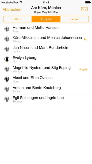 Origon - Geteilte Kontaktlisten Screenshot