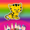 幼儿画画认识颜色和动画绘本-Pets Doodling Book For Babies