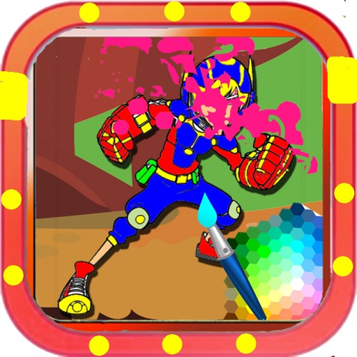 Draw Pages Game Big Hero Version iOS App