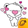 Heartbear, the Messenger of Love - Mango Sticker messenger sticker translator