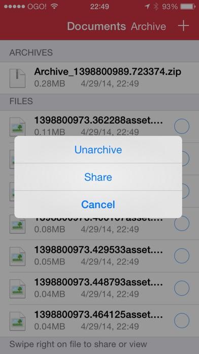 Screenshot of ZIP - ZIP UnZIP Archiver e Strumento3