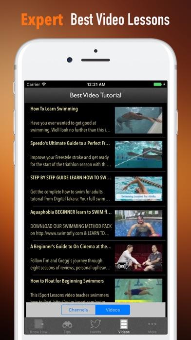Плавание для начинающих Учебник Tips- и спортаСкриншоты 3