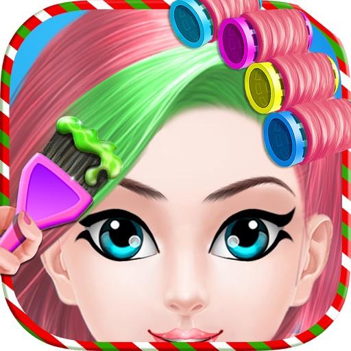 Christmas Princess Hair Salon : Virtual Hair Style iOS App
