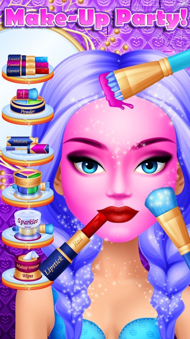 Halloween Girls MakeUp Makeover Party - Kids Games App Download - Android APK